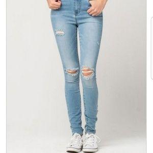RSQ Skinny Jeans Size 3 x 29 Distressed Stretch